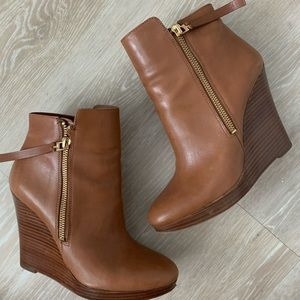 Brown leather Michael Kors Ankle Heel Boots